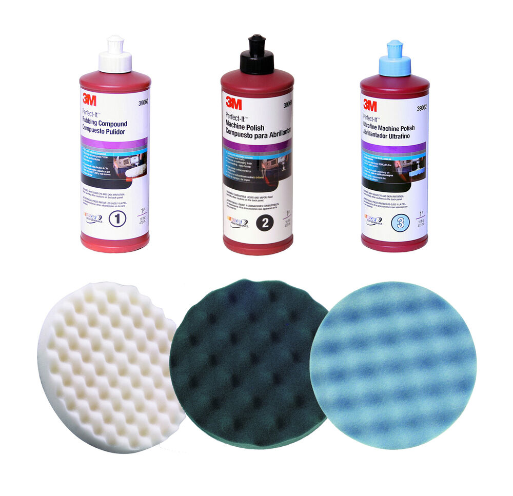 3m perfect it compound and polish kit buffing pad foam. Black Bedroom Furniture Sets. Home Design Ideas