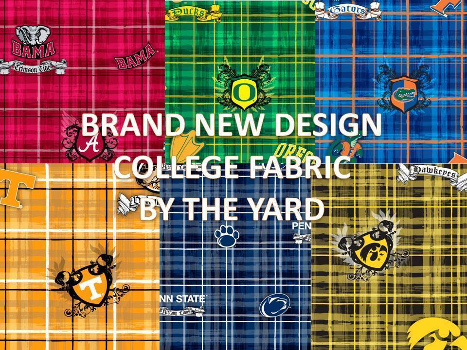 college cotton fabric university cotton fabric sold by the yard schools a l 800 ebay. Black Bedroom Furniture Sets. Home Design Ideas