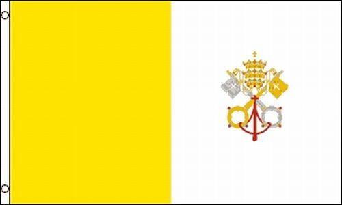 Vatican City Flag 3x5 Holy See Papal State Pope Rome Italy