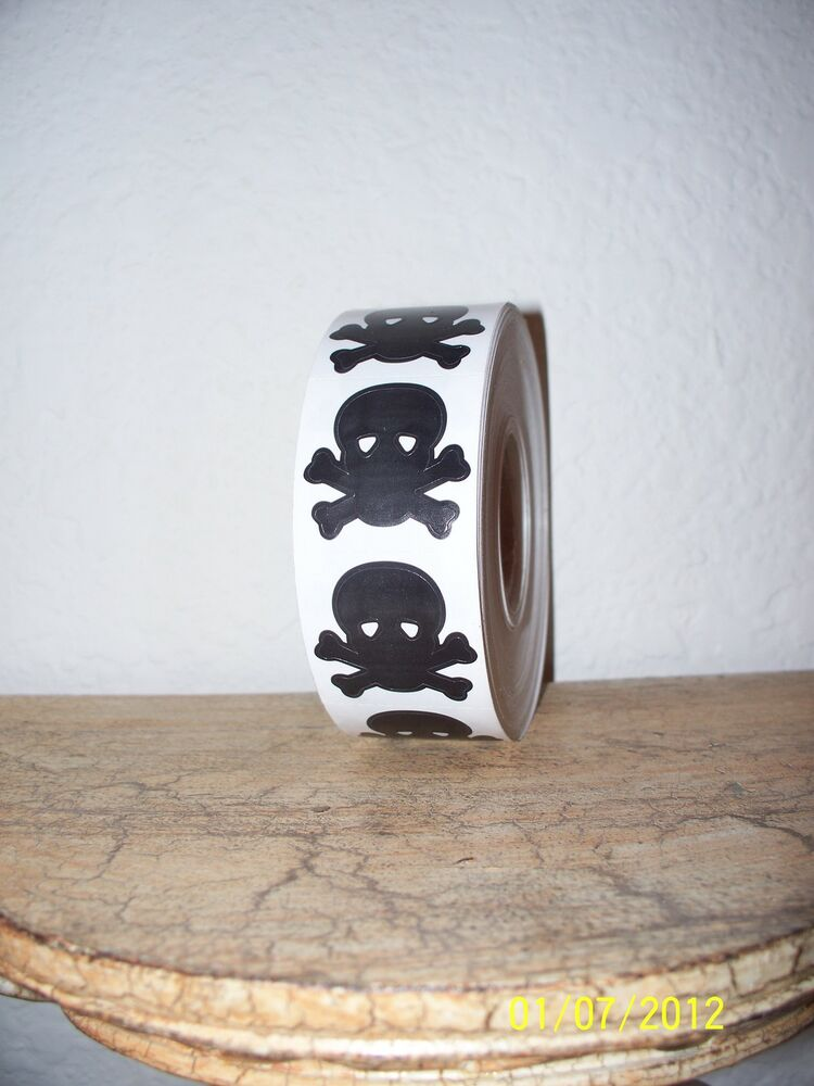 Lot 100 skull and crossbones pirate tanning bed stickers for Tanning beds and tattoos