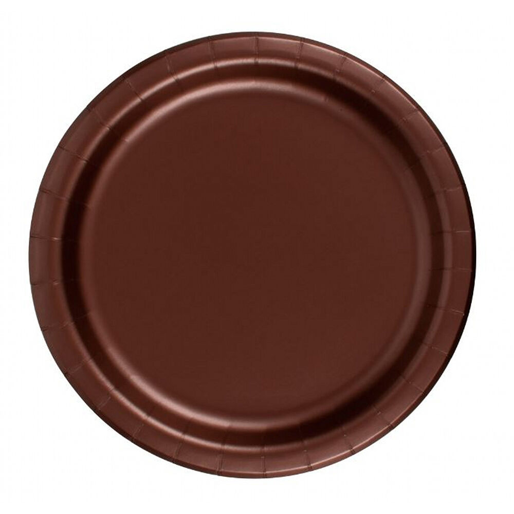 24 plates 10 paper dinner lunch plates wax coated brown. Black Bedroom Furniture Sets. Home Design Ideas