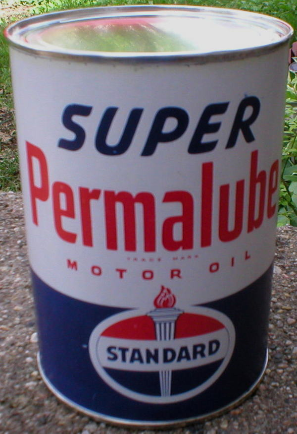 Standard Super Permalube Motor Oil Can New Empty Ebay