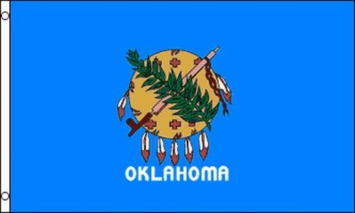 State Of Oklahoma Flag 3x5 Ft With Metal Grommets Sooners