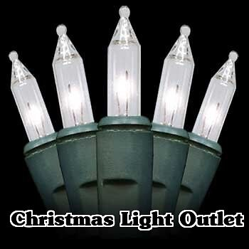 500 Clear White Mini Outdoor Christmas String Lights 135ft Green Wire Free SHIP eBay