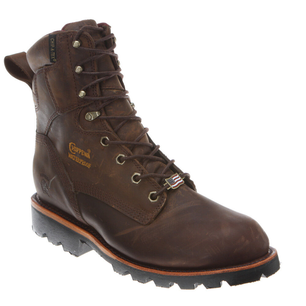 Chippewa Mens 8 Quot Bay Crazy Horse Waterproof Insulated