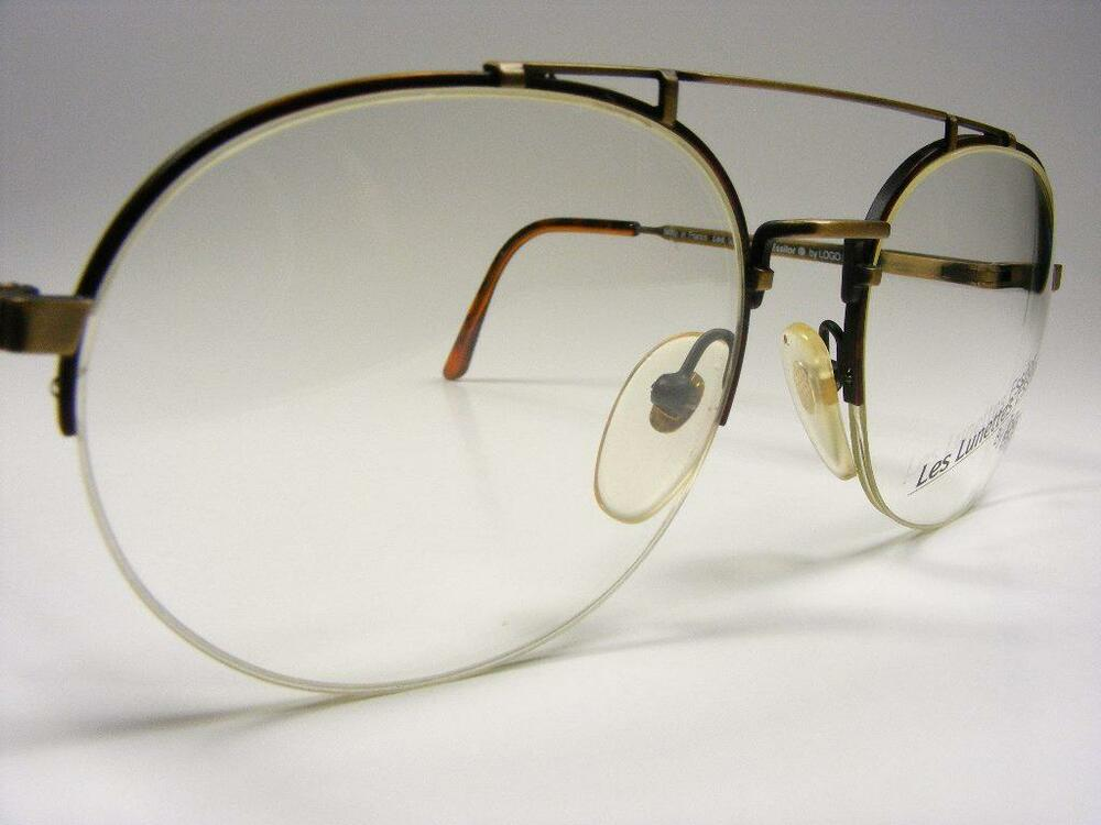 Eyeglass Frame Large : Paris Aviator Antique Bronze Tortoise Rimless Retro ...
