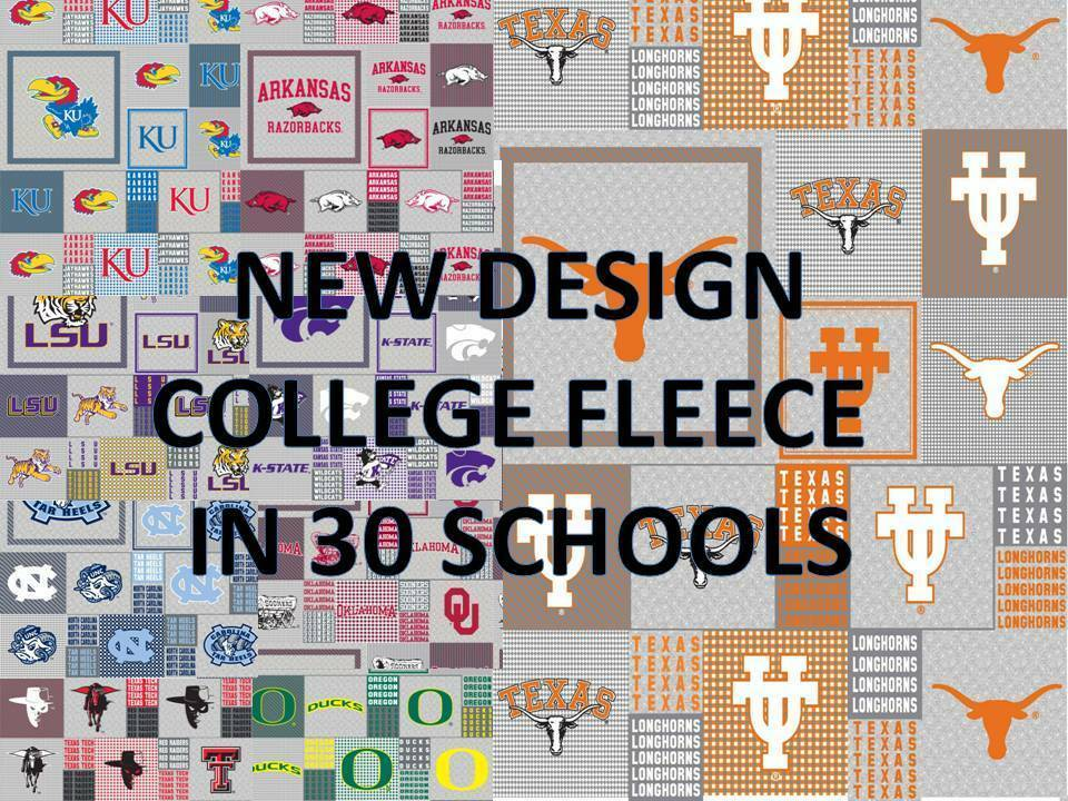 college fleece fabric university fleece fabric sold by the yard schools a n 158 ebay. Black Bedroom Furniture Sets. Home Design Ideas