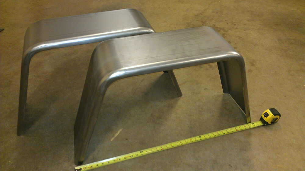 Trailer Fender Boxes : Pair of trailer fenders single axle quot x jeep style