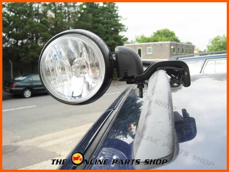 Universal Roof Bar Rail Rack Mount Spotlight Spot Light