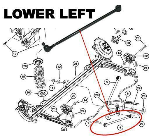 for pt cruiser rear lower left sway bar link arm 2 0 2