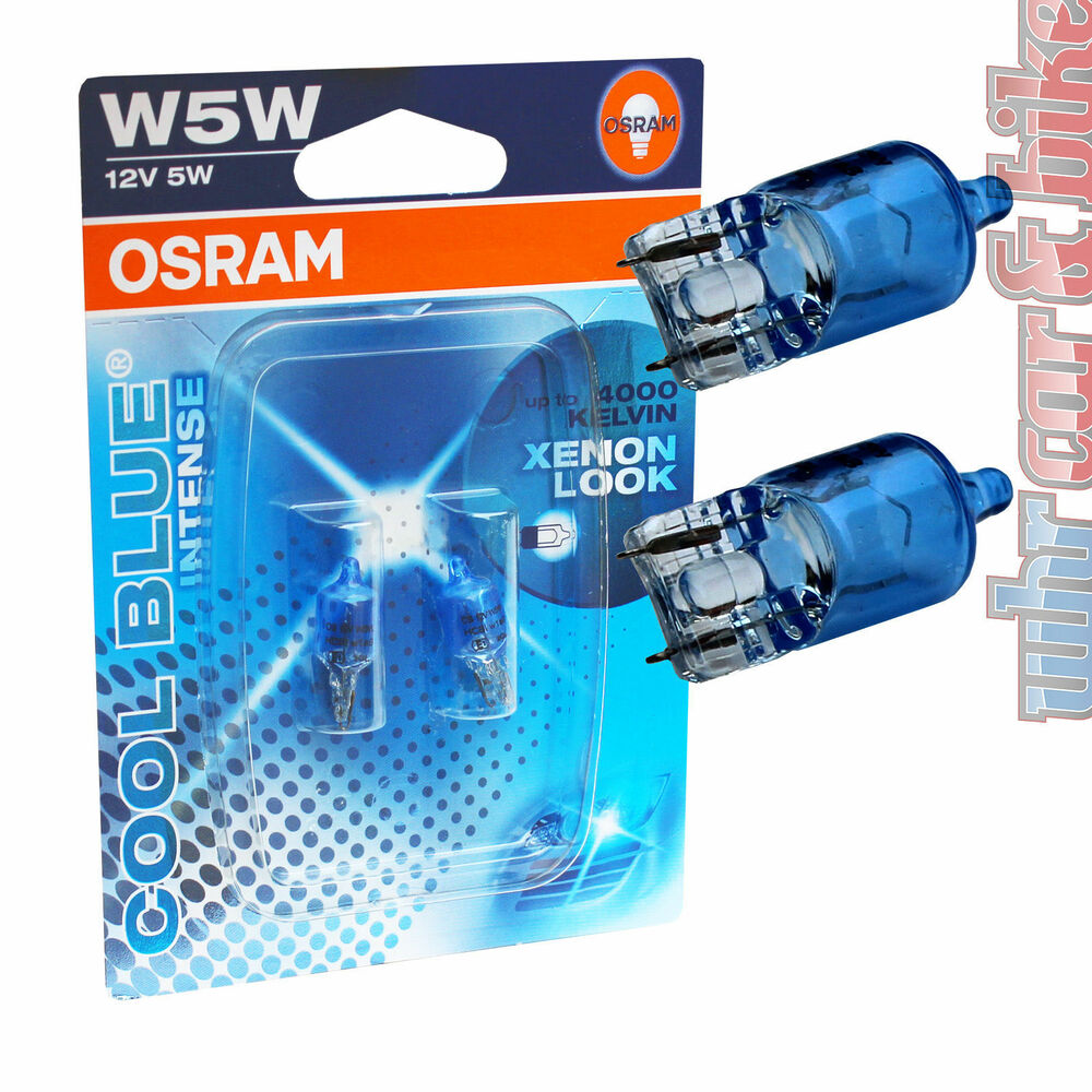 2 st ck osram 12v cool blue intense standlicht w5w t10. Black Bedroom Furniture Sets. Home Design Ideas