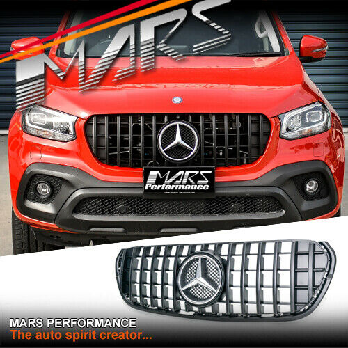 Gloss black w203 amg sls style grille grill for mercedes for Mercedes benz grill