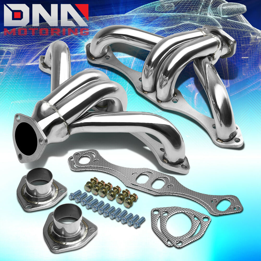 FOR CHEVY SBC SMALL BLOCK HUGGER SHORTY STAINLESS STEEL