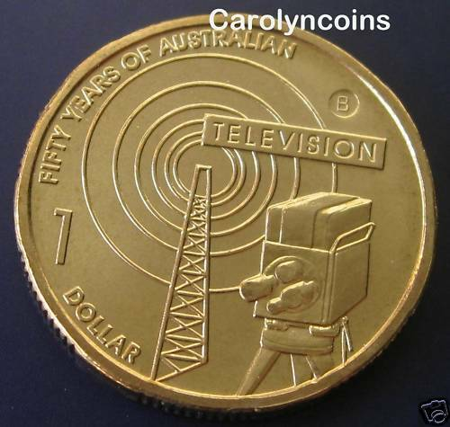 2006 1 coin 50 years of australian television 1 dollar coin b brisbane mintmark ebay. Black Bedroom Furniture Sets. Home Design Ideas