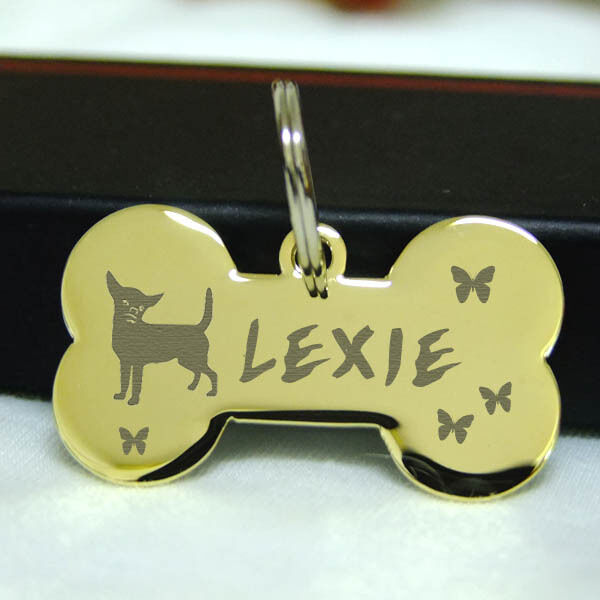 pet id tags small pets bone dog tag stainless steel custom. Black Bedroom Furniture Sets. Home Design Ideas