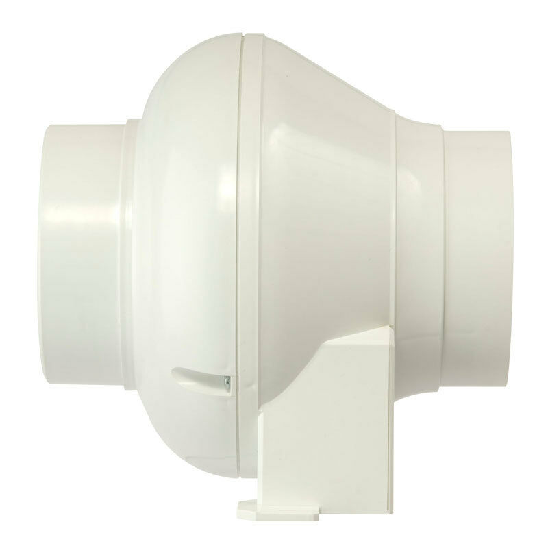 Manrose cfd200tn in line centrifugal extractor fan with timer 4 cfd200t ebay for In line centrifugal bathroom fan