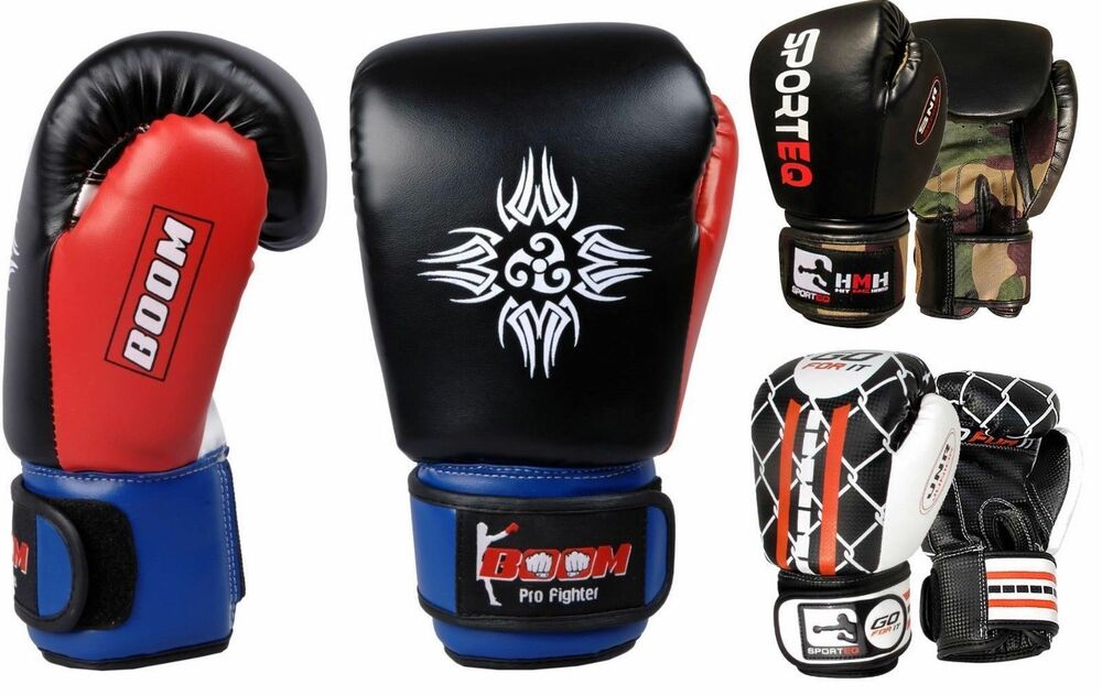 Kids Boxing Gloves Junior Punch Bag Mitts MMA Punching 4oz