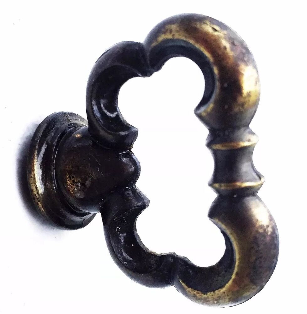 French provincial brass antique hardware vintage drawer for Small door knobs and handles
