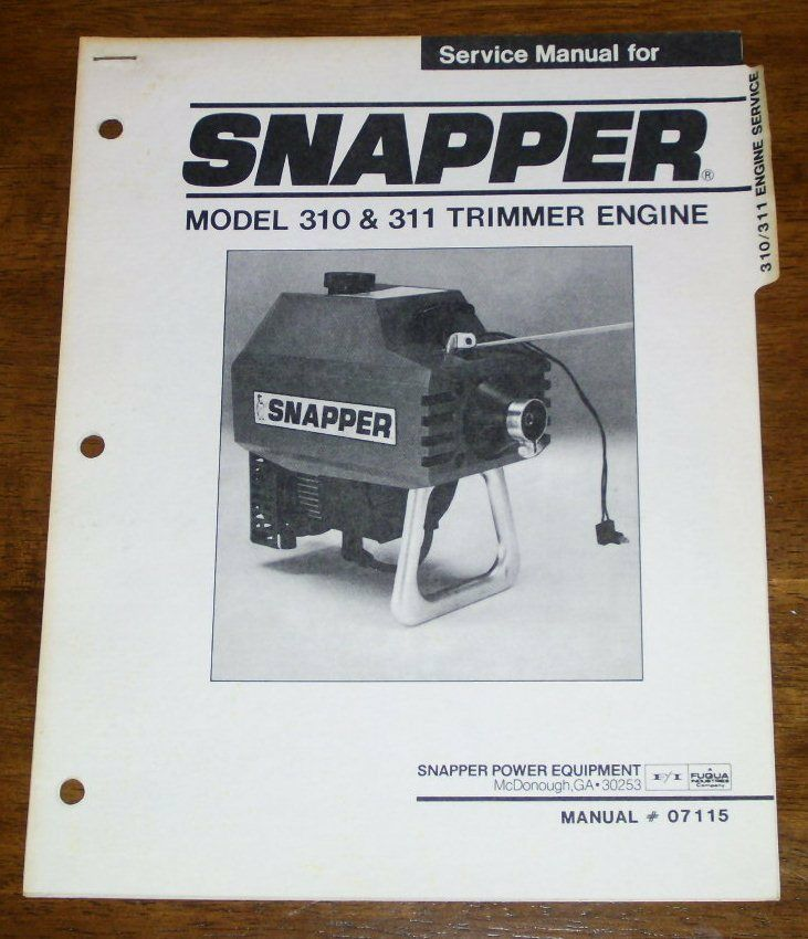 snapper 310 311 trimmer engine service manual ebay Hayliner New Holland Bale Wagon New Holland Hayliner Parts