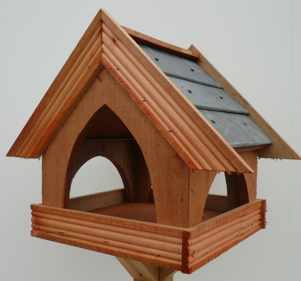 Slate Roof Country Cottage Style Bird Table Feeder Top