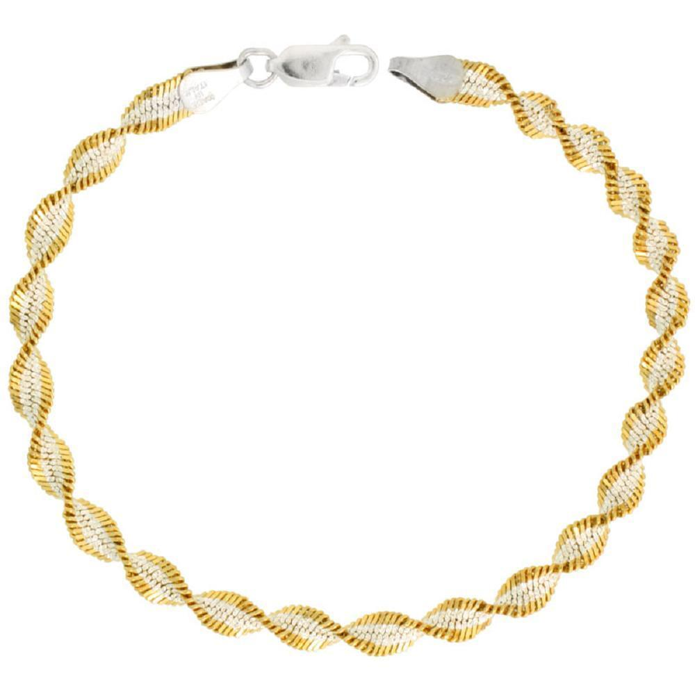 Sterling Silver 5mm Twisted Herringbone Chain Necklace ...