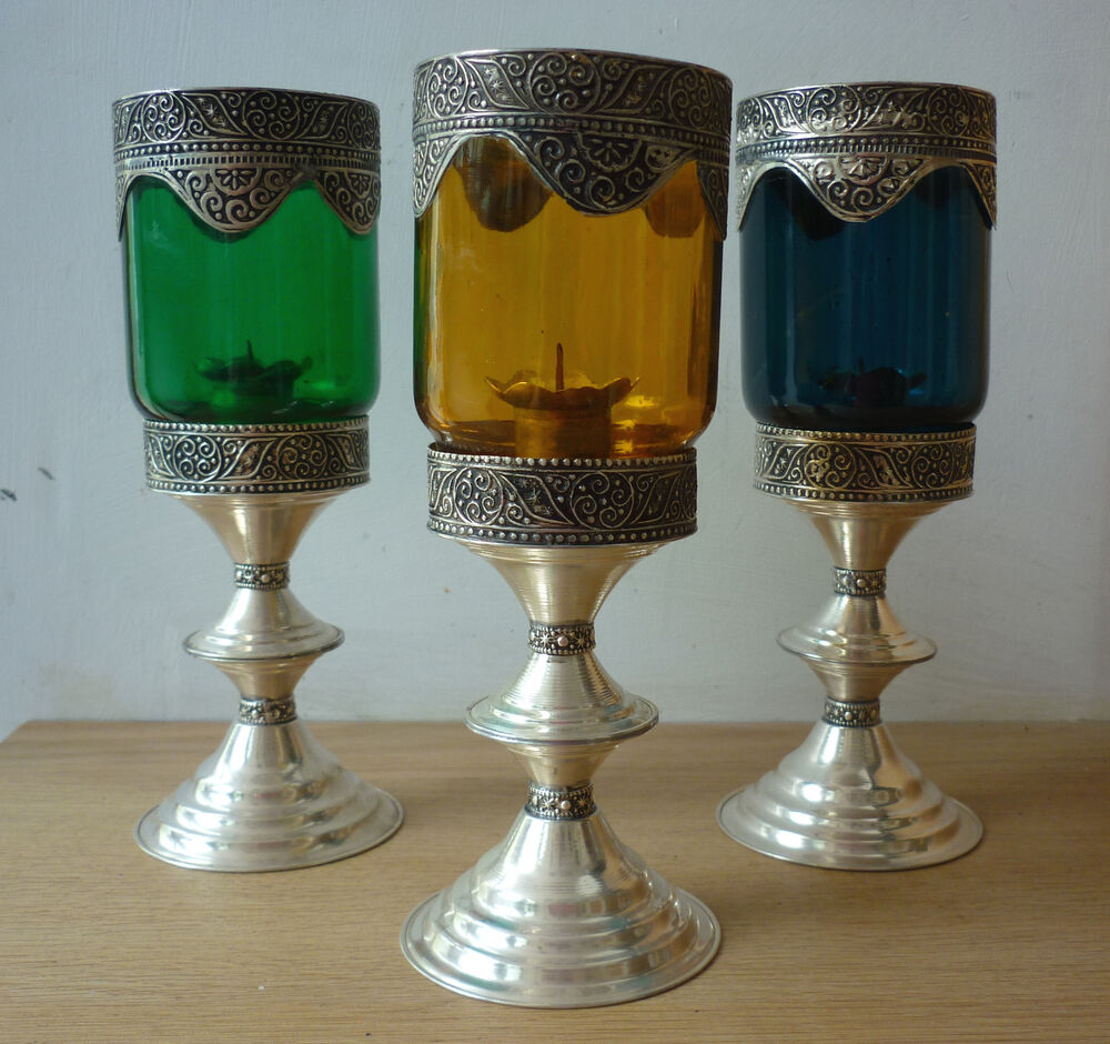 Authentic Moroccan Candle Holder Various Colours
