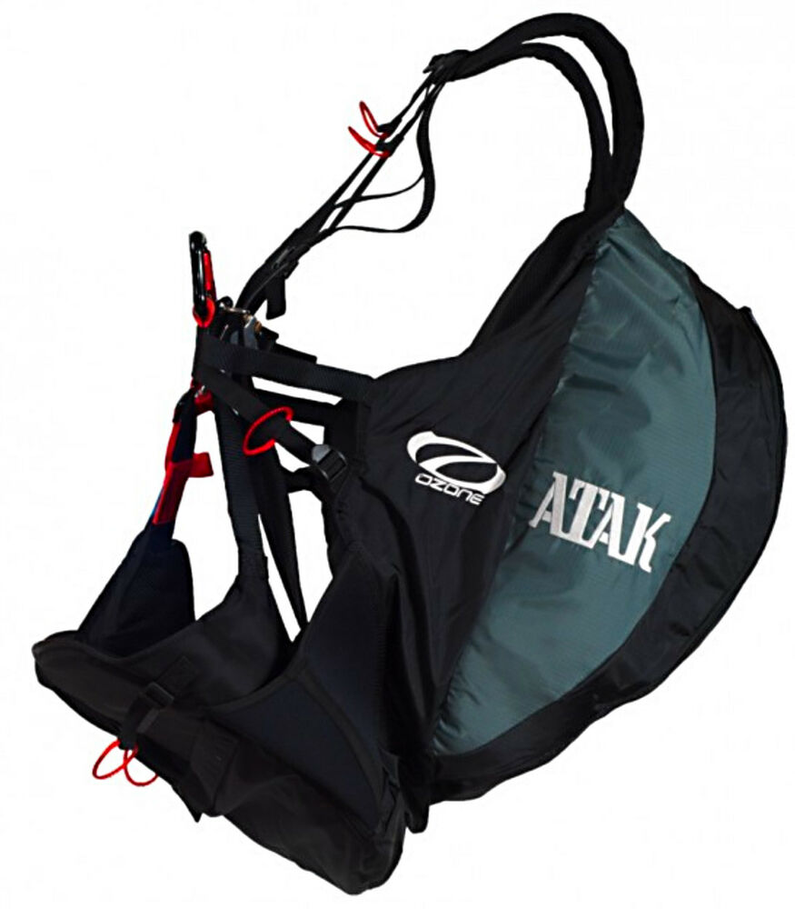 Paragliding Ground Handling Harness: Ozone ATAK Speedflying & Speedriding Paragliding Harness