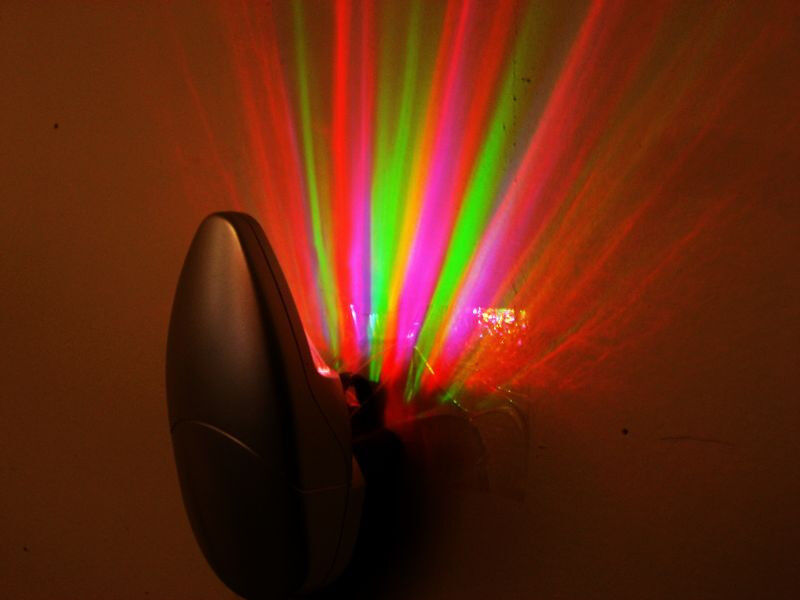 Colorful Rainbow Rays Wall Plug Led Night Light Energy Saving Color Lamp 110v Ebay