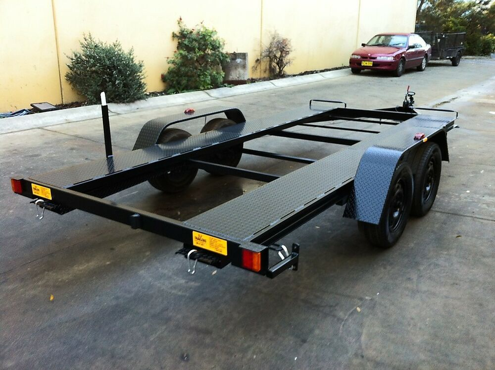 car trailer tandem manual tilt 14x6 6ft 2tatm use4 race