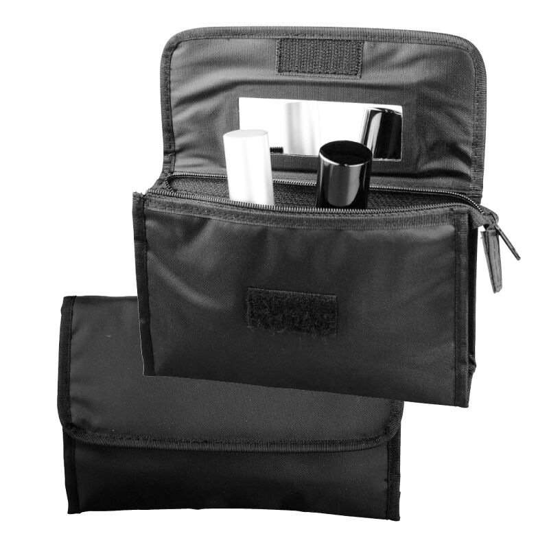 top angebot neu kosmetiktasche mit spiegel make up tasche reise urlaub schwarz ebay. Black Bedroom Furniture Sets. Home Design Ideas