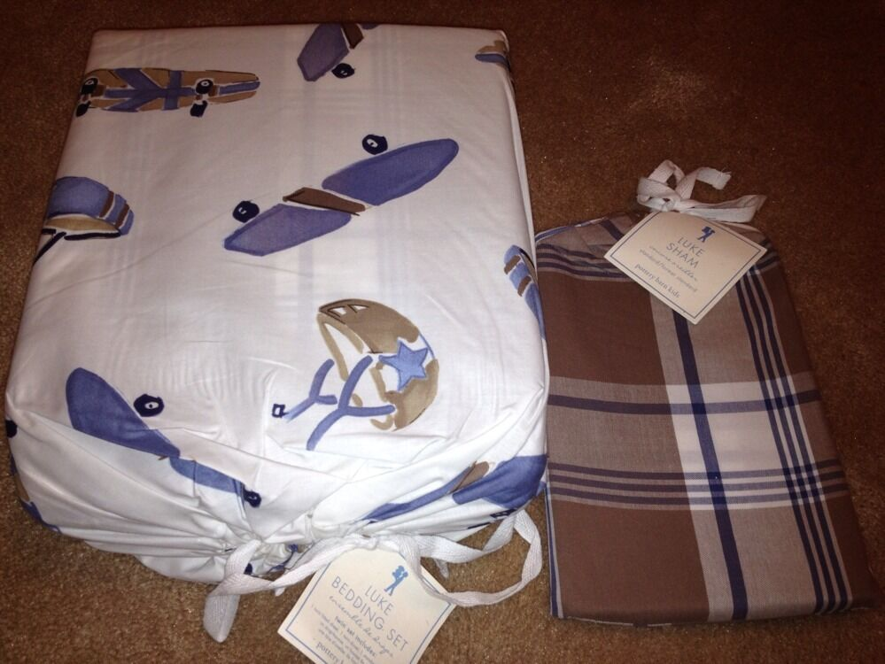 New Pottery Barn Kids Luke Skateboard Twin Bedding Duvet