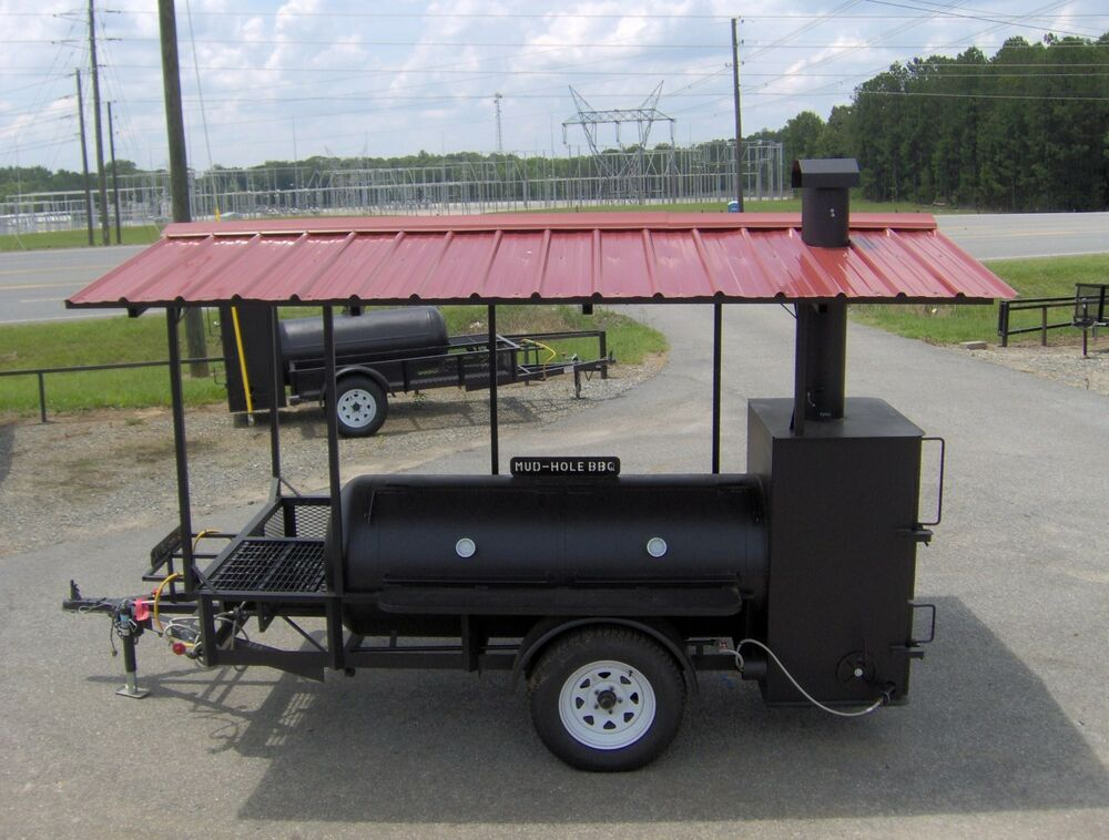 rib box bbq pit smoker trailer gas starter grill roof ebay. Black Bedroom Furniture Sets. Home Design Ideas