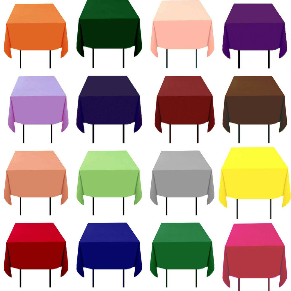 "10 Pack 72"" x 72"" Square Tablecloths Overlays 23 Colors ..."
