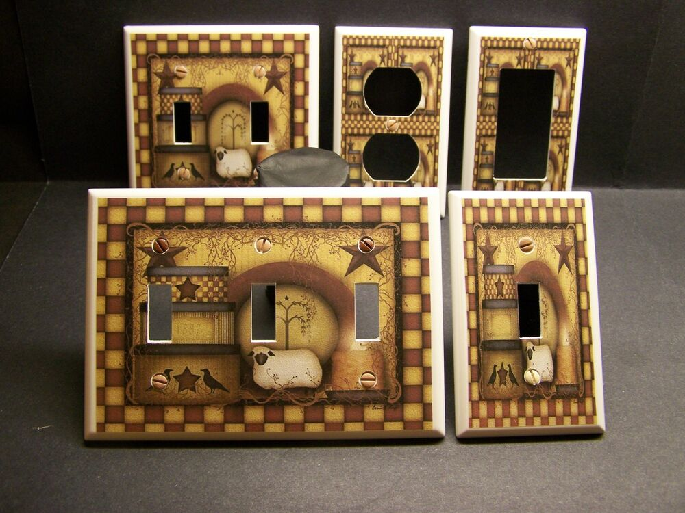 decorative light switch covers primitive country kitchen decor light switch or 29476