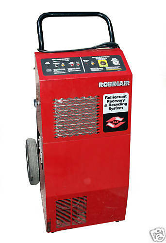 Robinair Refrigerant Recovery Amp Recycling Station Model