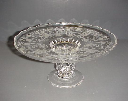 cake plate stand vintage prelude viking glass co new martinsville pedestal 2271
