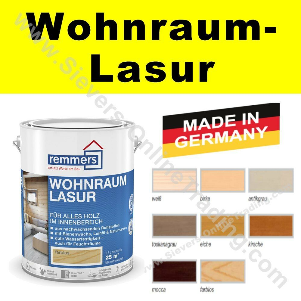 10 l remmers wohnraum lasur gp 20 15 l holzlasur wohnraumlasur innenlasur ebay. Black Bedroom Furniture Sets. Home Design Ideas