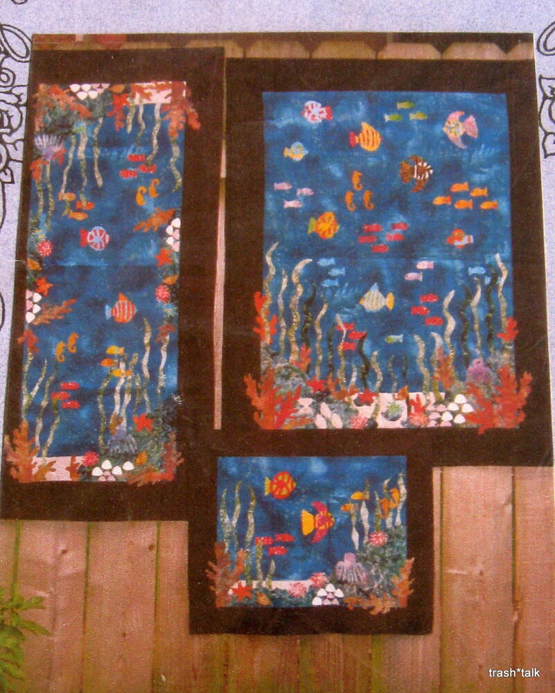 Nana s Pretties wallhanging pattern table runner placemat Sea Tropical quilt eBay