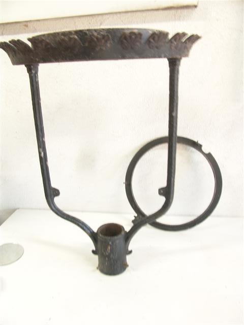 Early 1800s Antique Street Lamp Outdoor Post Light Parts Cast Iron Victorian