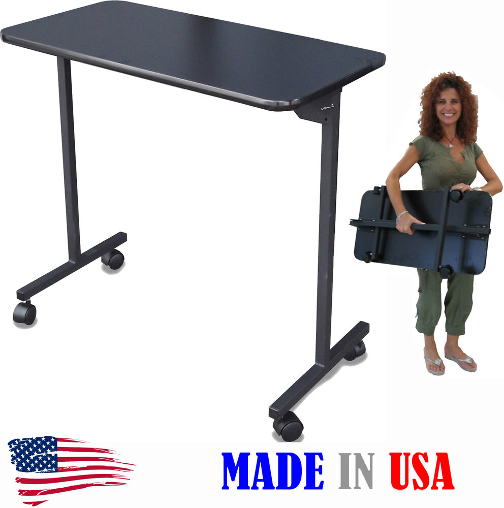 Portable manicure nail table 310e black top folding legs for Fold away nail table