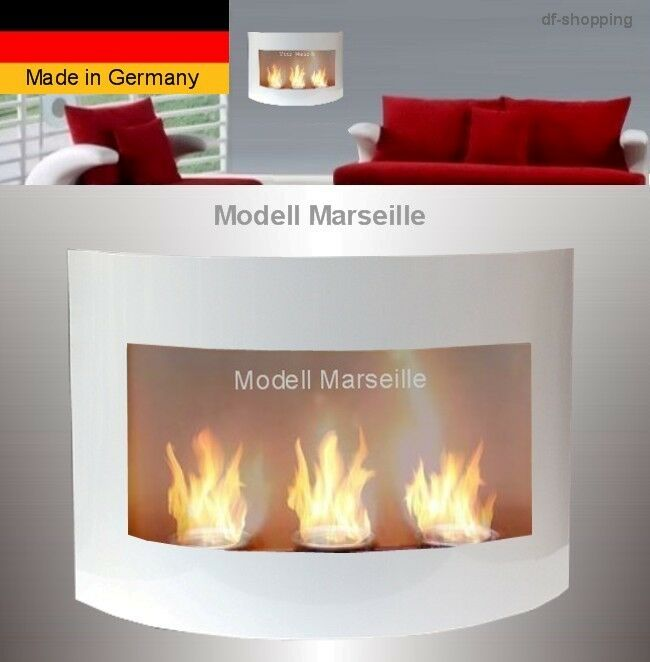 Gel And Ethanol Fireplace Marseille White Fireplace