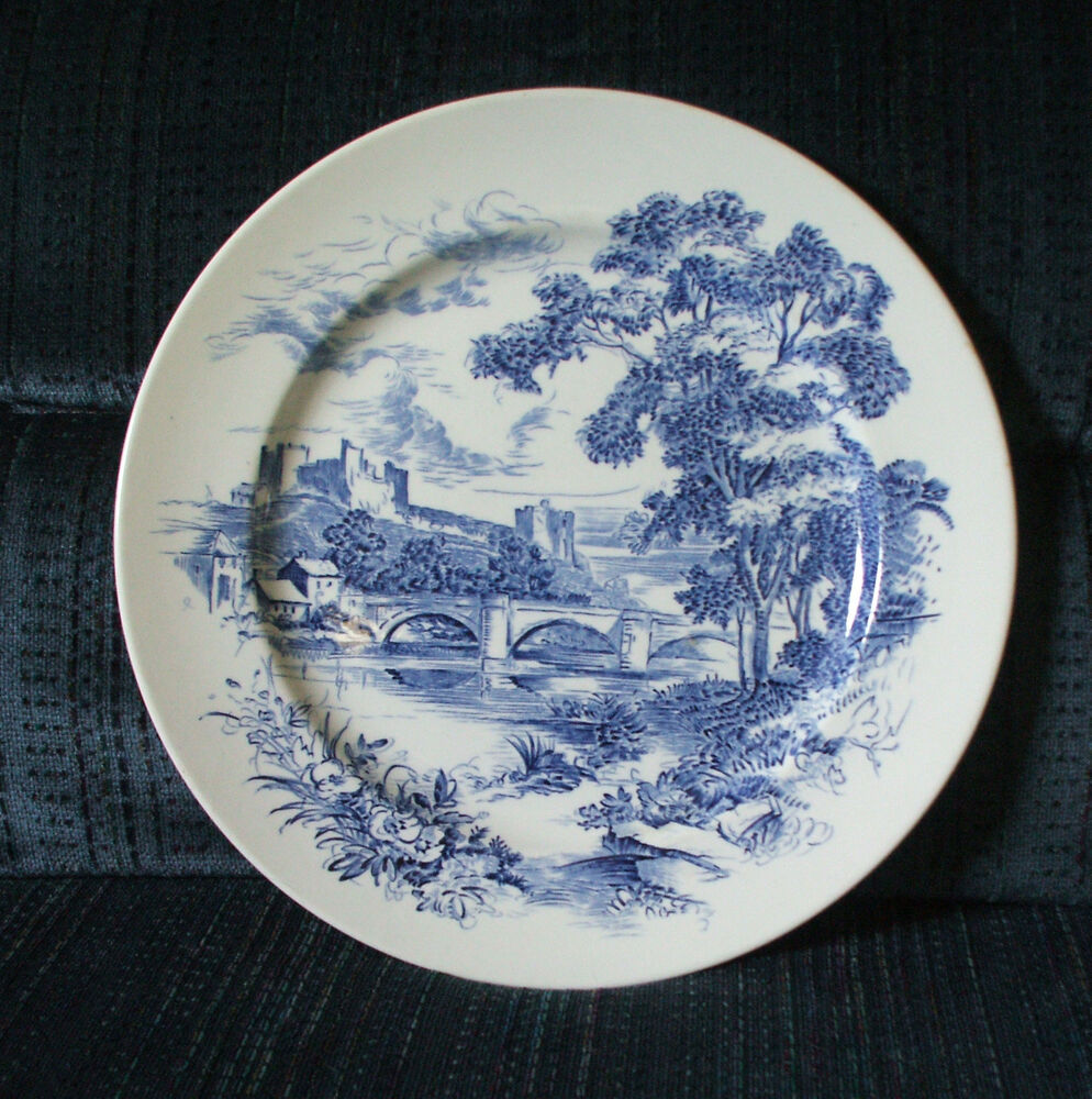 wedgwood co ltd made in england countryside pattern blue white ebay. Black Bedroom Furniture Sets. Home Design Ideas
