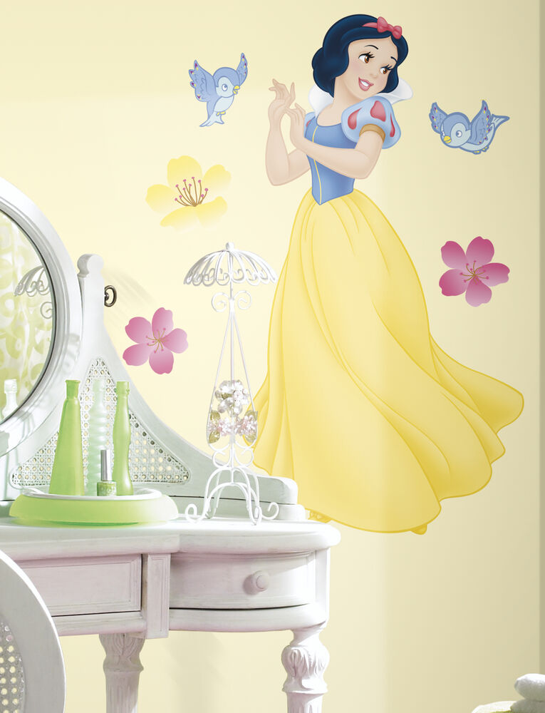 New 40 snow white giant wall decals disney princess for Disney princess wall mural tesco