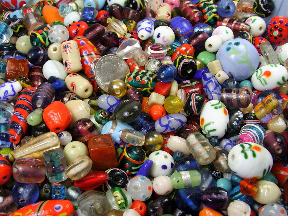 One Stop Bead Shop 4 U House Mix Glass Beads Lot Two