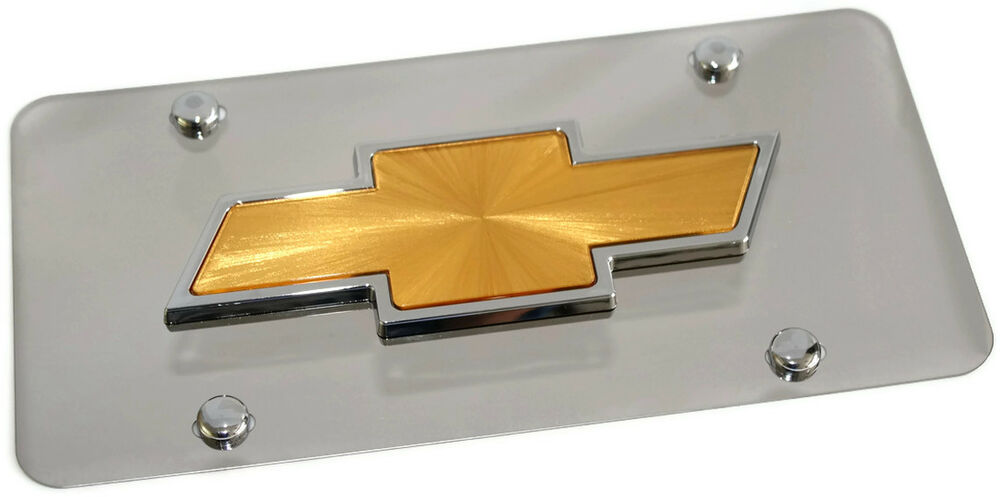 Chevy Front License Plate Frame Stainless Mirror Steel 3d