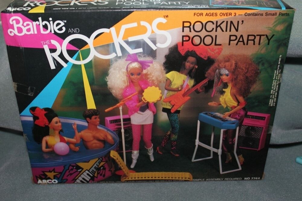 Barbie And The Rockers Rockin Pool Party Toy Set Mattel