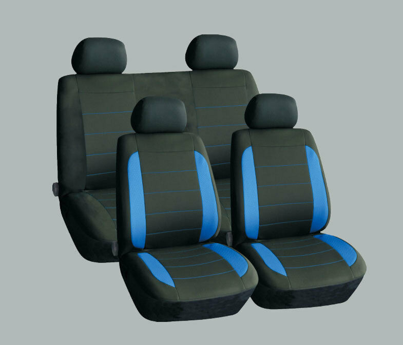 SKODA ROOMSTER SUPERB YETI UNIVERSAL CAR SEAT COVERS BLUE