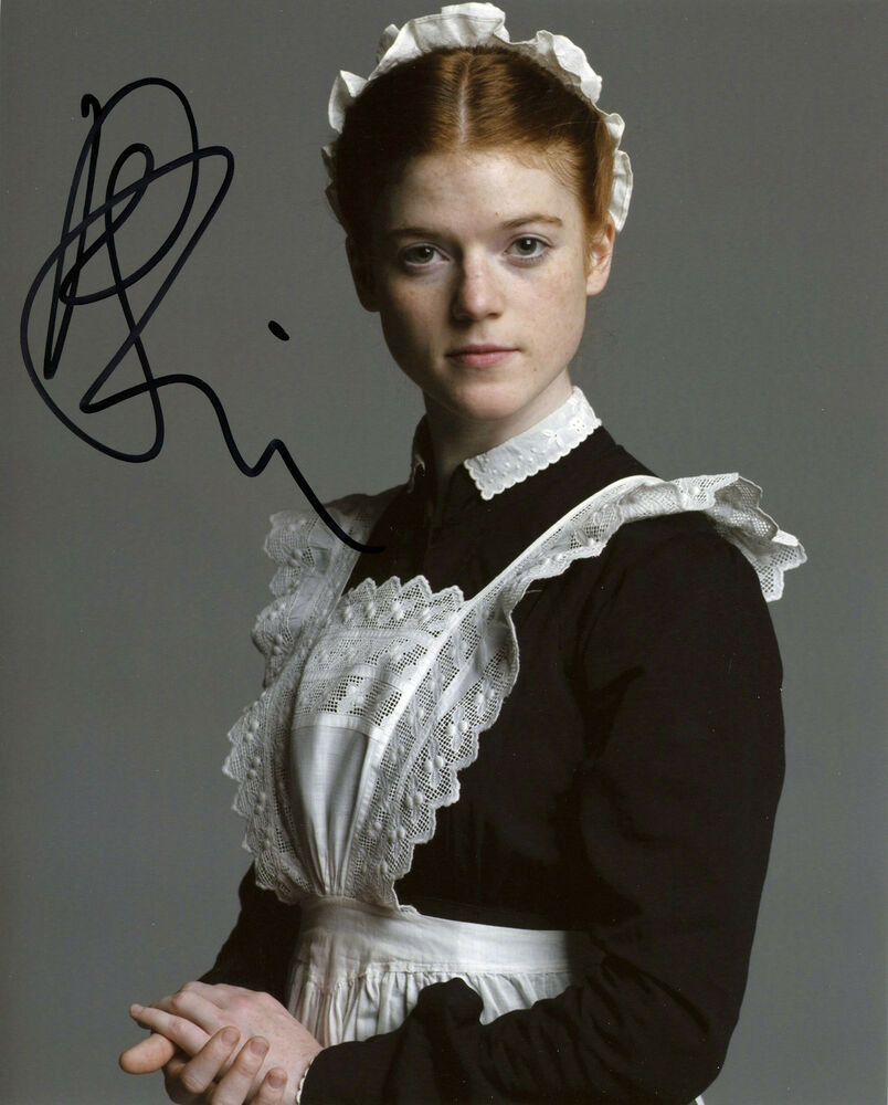 Rose Leslie Signed 8x10 Downton Abbey Gwen Game of Thrones ...