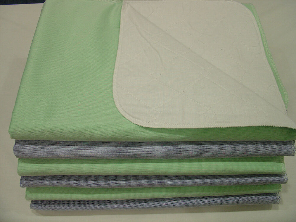 6 Cloth Bed Pads Reusable Underpads Incontinence