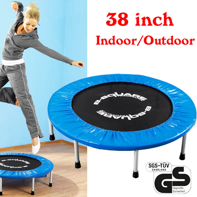 "38"" Foldable Trampolines Sporting Goods Fitness Rebounder"